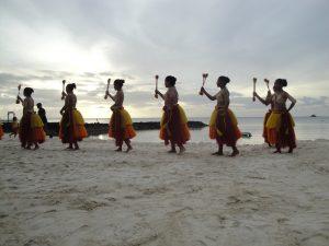 Mikronesien traditionelle Tänzer